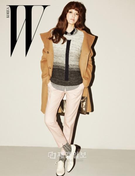 少女時代スヨンが、ファッションマガジン『W Korea』 10月号のグラビア