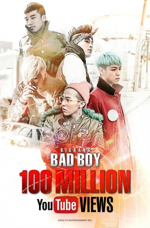 BIGBANG、『BAD BOY』PVがYouTube再生回数1億回を突破